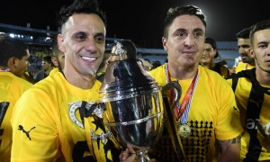 Festejos de Peñarol campeón uruguayo
