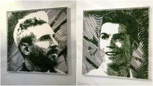 Lionel Messi y Cristiano Ronaldo en musgo