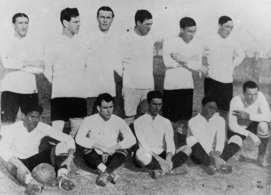Formacion Seleccion de Uruguay, año 1916, sobre 28164, equipo de Uruguay campeon Sudamericano, Coleccion Caruso, Archivo El Pais