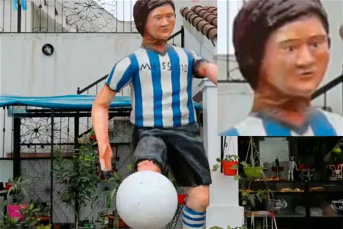 Estatua de Lionel Messi en Faimallá