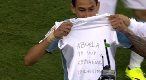 Ángel Di María dedica el gol a su abuela