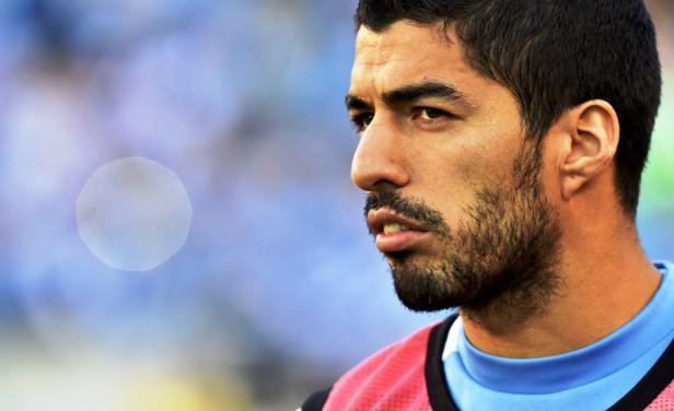 Luis Suárez durante la Copa América.