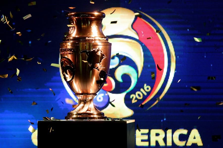 El trofeo de la Copa América Centenario. Foto: EFE