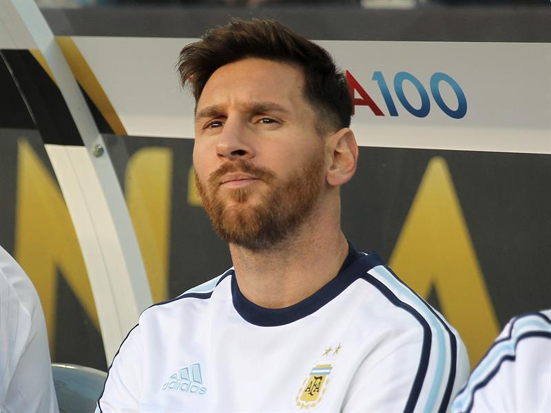 Lionel Messi en el partido ante Chile