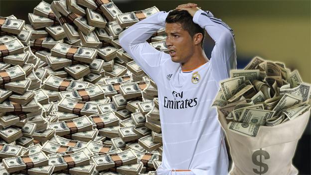 Cristiano Ronaldo con dinero