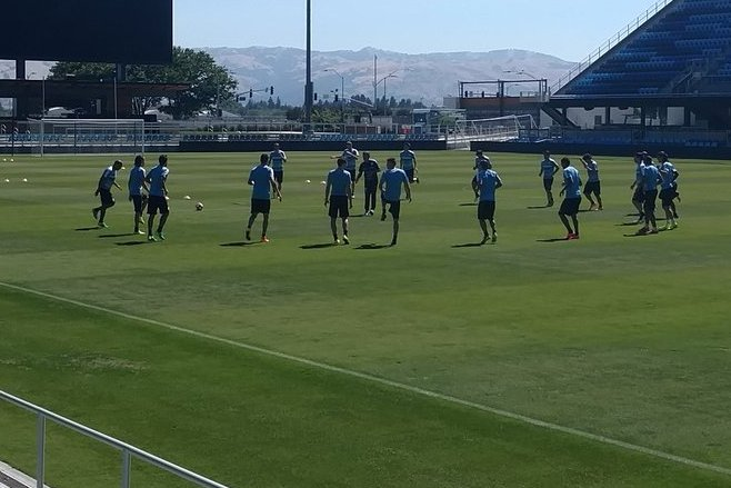 Uruguay entrena en el Avaya Stadium