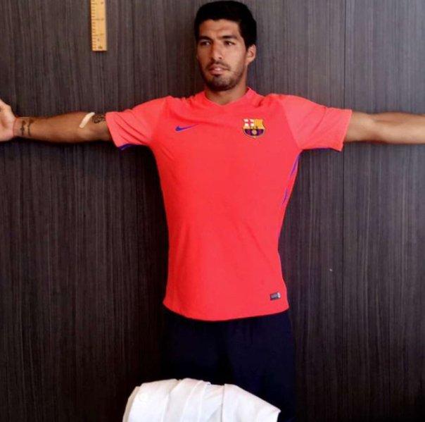 Luis Suárez en la vuelta a Barcelona