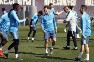 Entrenamiento del FC Barcelona. Foto: @FCBarcelona_es