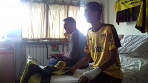 Cristian Rodríguez visitó a Junior