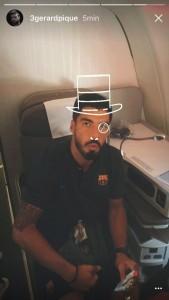 Jugadores de Barcelona con filtros de Instagram