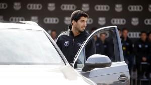 Luis Suárez con su Audi