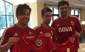 Marcelo Gallardo fue homenajeado en Orlando