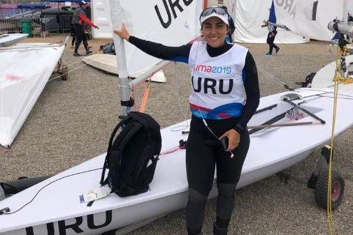 Dolores Moreira, Lola Moreira, competidora de Uruguay en vela, foto @prensacou, 201908--, en Juegos Panamericanos, Lima, Peru