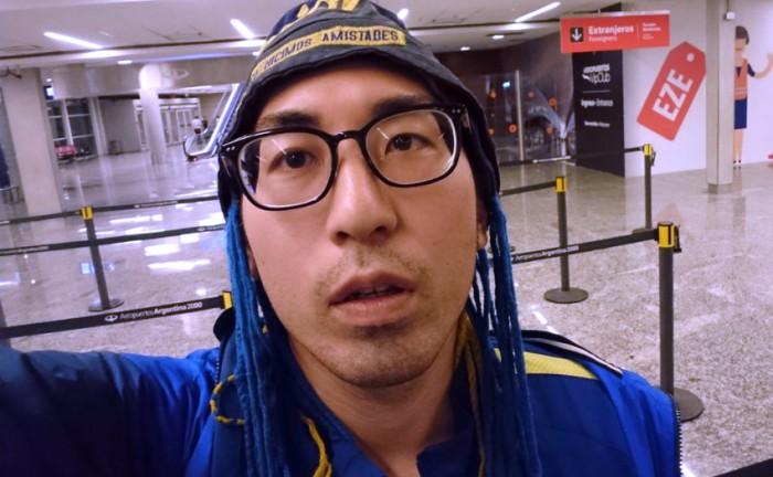 Isamu Kato llegando a Argentina. Foto: @IsamiLito