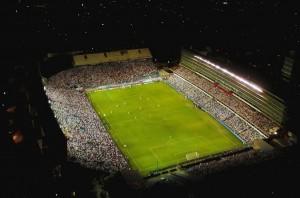 Vista aerea del Estadio Gran Parque Central durante el partido Nacional vs Chapecoense por Copa Libertadores de Futbol 2018, Montevideo, ND 20180207, foto Gabriel Rodriguez - Archivo El Pais