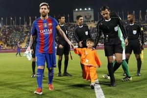 Lionel Messi junto a Murtaza