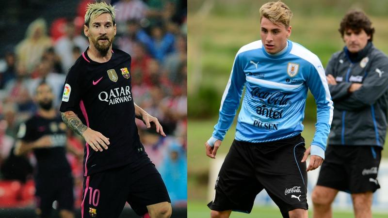Lionel Messi y José María Giménez