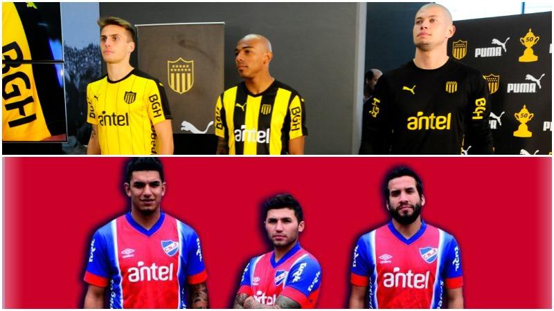 Camisetas Nacional y Peñarol