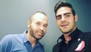 Jesús Tomillero y Andrés Iniesta