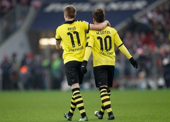 Marco Reus junto a Mario Gotze
