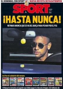 Neymar en las portadas